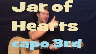 Jar of Hearts (Christina Perri) Guitar Lesson Easy Strum Chords How to Play Tutorial - Capo 3rd