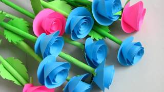 How to Make Small Flower with Paper | Making Paper Flowers Step by Step | DIY-Paper Crafts. hr3