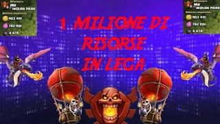 BOTTINO EPICO?! 1 MILIONE DI RISORSE IN LEGA CAMPIONI -CLASH OF CLANS