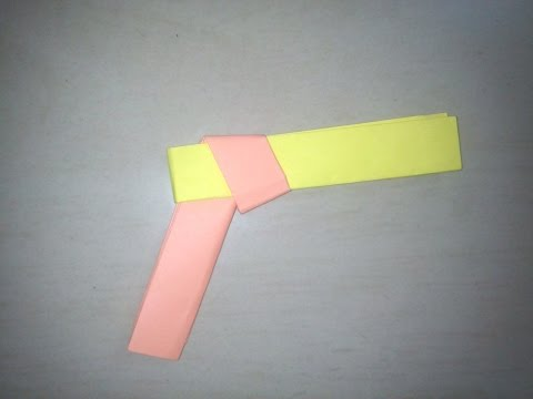 DIY: How to make paper gun - Origami for Kids