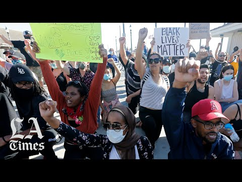 Dozens of demonstrations across Los Angeles and Orange County draw thousands of peaceful protesters