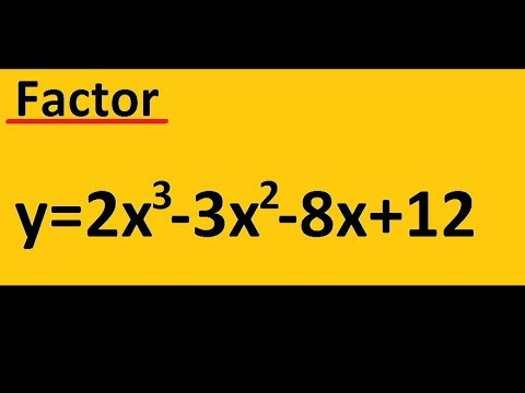 Factor 2x^3  -3x^2  -8x+12    (use the difference of squares)