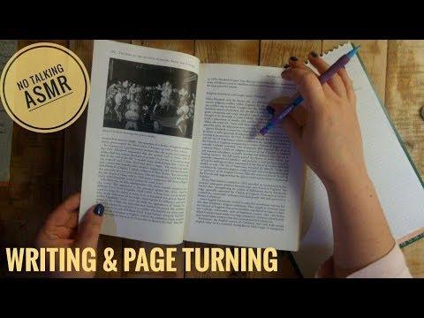 *ASMR* Studying, writing, page turning – Part 2 [No talking]