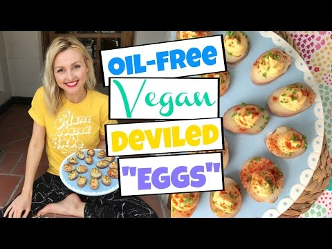 Vegan Deviled Eggs - Oil-Free Easter Recipe