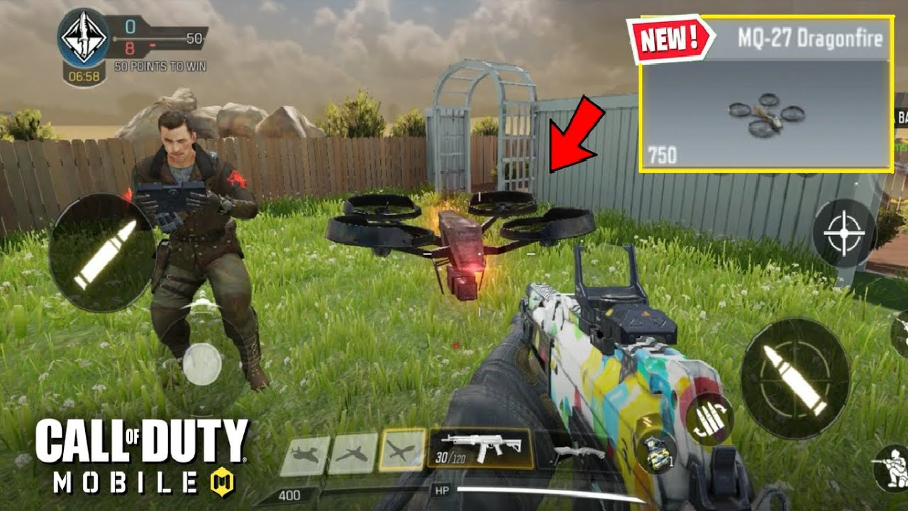 *NEW* MQ-27 DRAGONFIRE DRONE SCORESTREAK GAMEPLAY in CALL OF DUTY MOBILE thumbnail