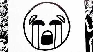 como dibujar un emoji triste | how to draw emojis