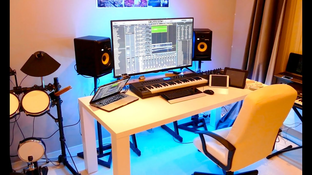 Great NEW HOME RECORDING STUDIO TOUR (2015)