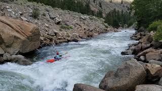London Aguon (15) - 1st slalom race. 2nd year kayakingFIBArk 2020 - Pine Creek Race.