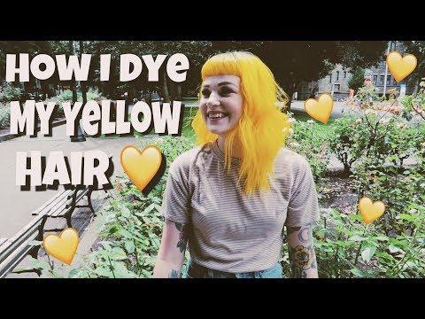 How I Dye My Yellow Hair