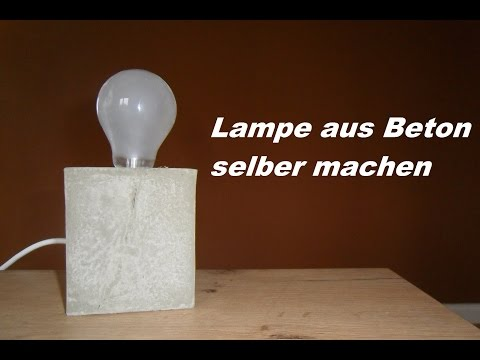 recycling lampen aus beton gut doovi. Black Bedroom Furniture Sets. Home Design Ideas