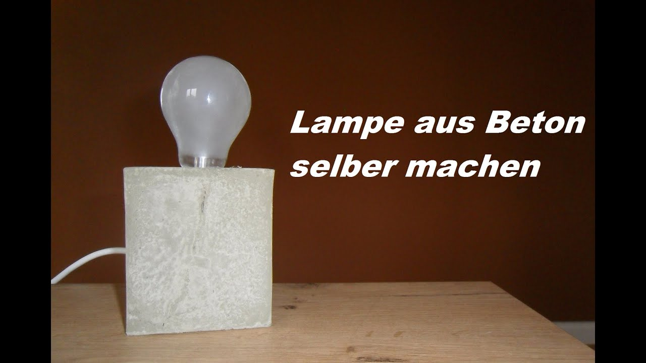 diy lampe aus beton selber machen betonlampe gie en youtube. Black Bedroom Furniture Sets. Home Design Ideas