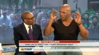 """ I WAS A PROSTITUTE HUNTER (ORIGINAL) "" Mike Tyson losing his mind on the today show 6/19/12"