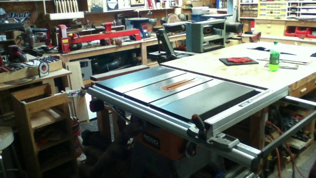 Ridgid r4512 table saw assembly and first impression youtube ridgid r4512 table saw assembly and first impression greentooth Images