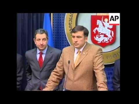 President Saakashvili comment after sacking defence minister