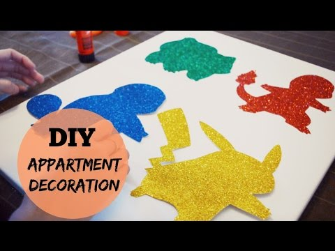 Apartment Decoration Glitter Pokemon Wall Art Diy