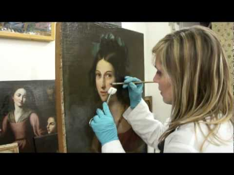 Fine Art Restoration Workshop In Italy Youtube