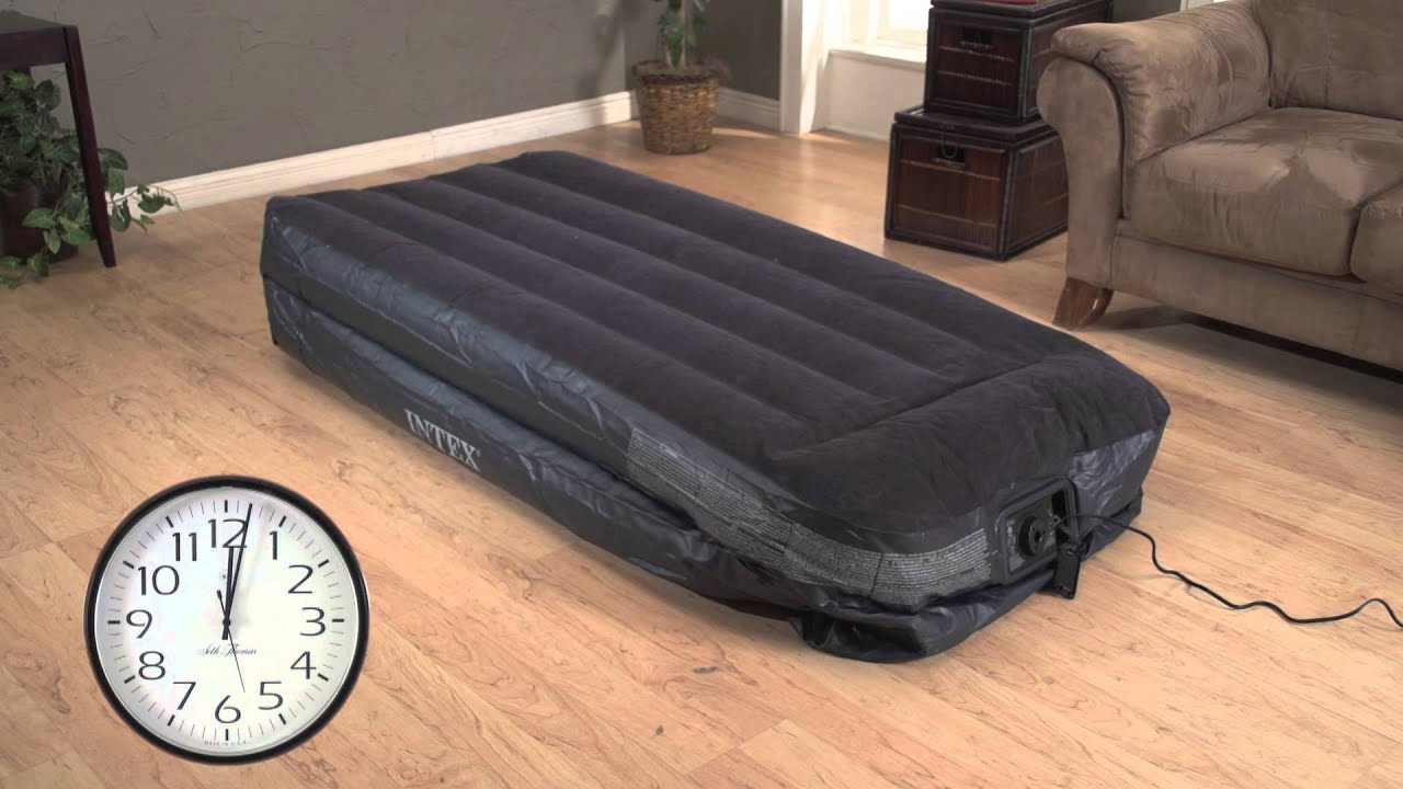 Intex Built In Pump Intex Twin Air Bed Mattress With Built In Electric Pump