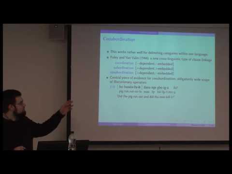Oleg Belyaev: Coordination and subordination: Delimiting the domains, SOAS University of London