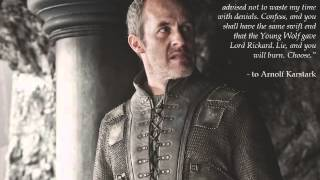 Stannis Baratheon Quotes Tribute - Blood Diamond London