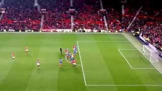 Ryan Giggs last ever free kick for Manchester United.