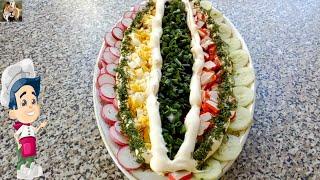 Свежий весенний салат с редиской и огурцом рецепт с крабовыми палочками