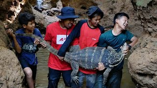 Adu Tenaga dengan Biawak Raksasa | Catch The Biggest Lizard