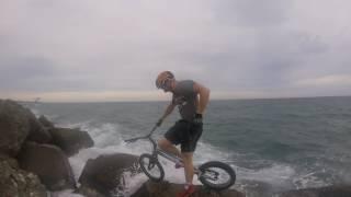 Biketrial at the sea