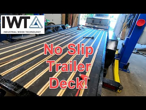 Trailer Deck Replacement With Black Wood