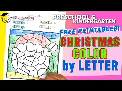 Christmas Color By Letter Free Printables - Totschooling