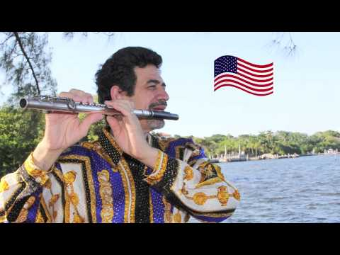 Solo flute music by Bobby Ramirez - America's National Anthem