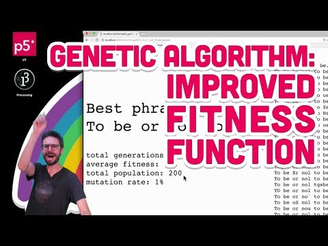 9.6: Genetic Algorithm: Improved Fitness Function - The Nature of Code