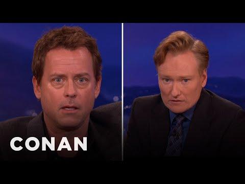 Greg Kinnear & Conan Have A Face-Wiggling Battle