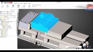 SprutCAM - Setup de pieza y Material en Bruto