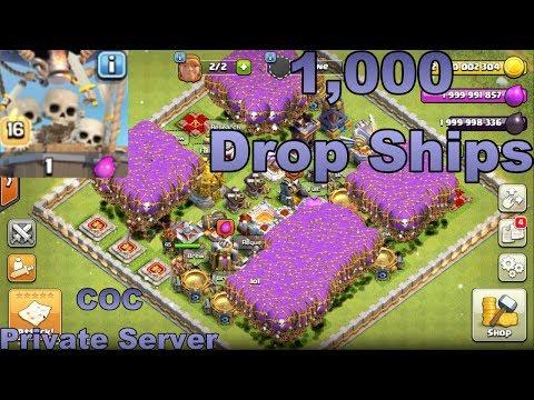1,000 Maxed Drops Ships (COC Private Server)