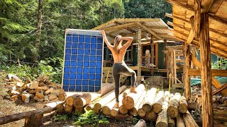 Bringing ENERGY TO OUR YURT | EATING free OFF THE LAND | This BATTERY is a GAME CHANGER - Ep. 102