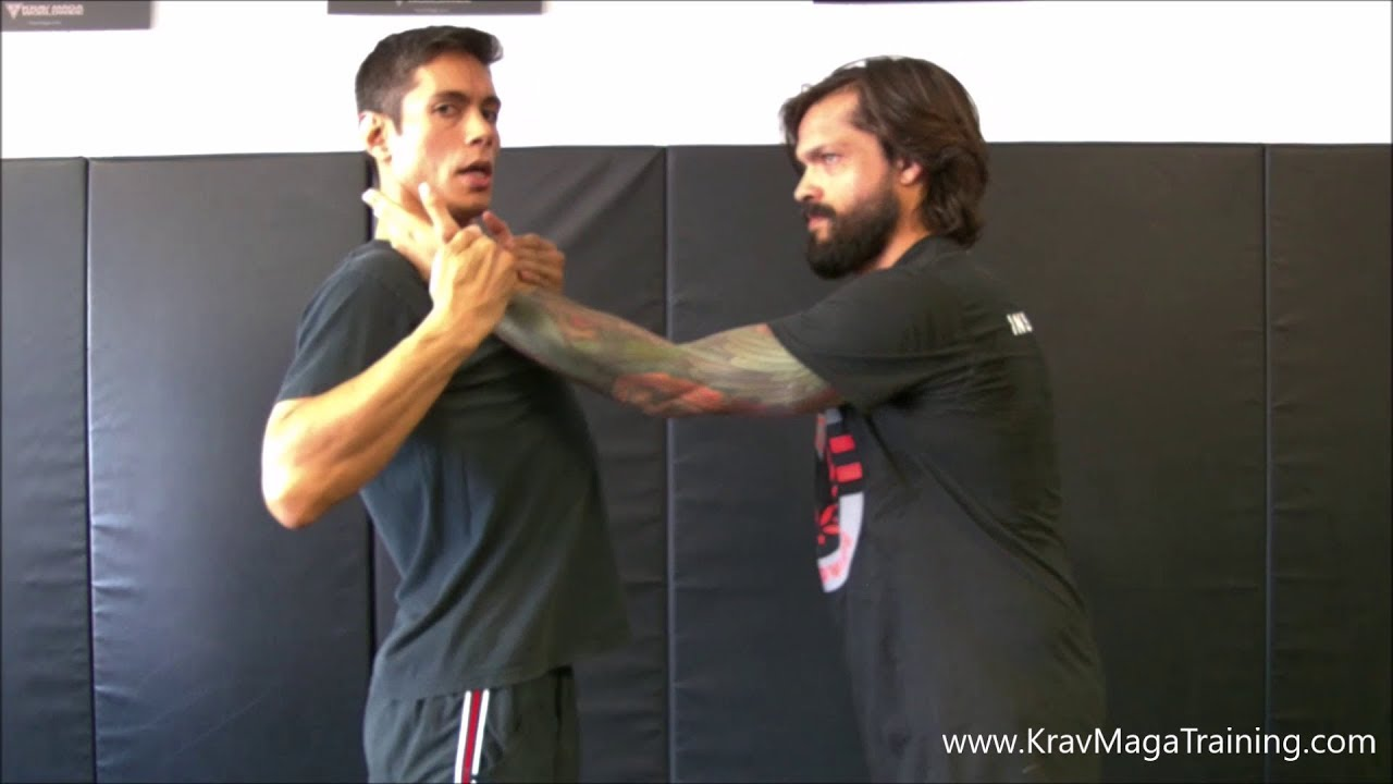 Krav Maga Choke From The Front Two Handed Pluck Pluck Details