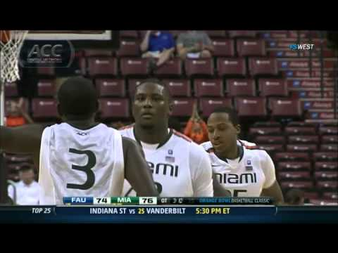 Florida Atlantic vs Miami ACC Men