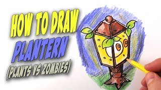 How To Draw Plantern from Plants vs. Zombies – Mr. Cute Cartoon Drawing Club
