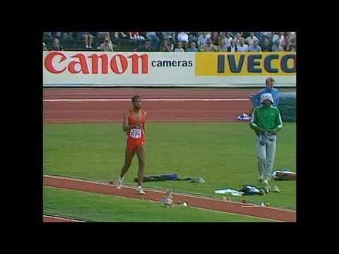 The first world Championships in athletics. Finland. Helsinki 1983. Triple jump. Banks W. USA (2)