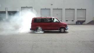 Major Chevy Astro Van Burnout