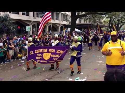 2017 Zulu Parade--St Aug Marching 100