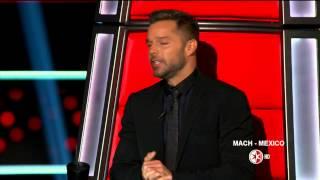 Ricky Martin en La Voz Mexico 4  Programa 1