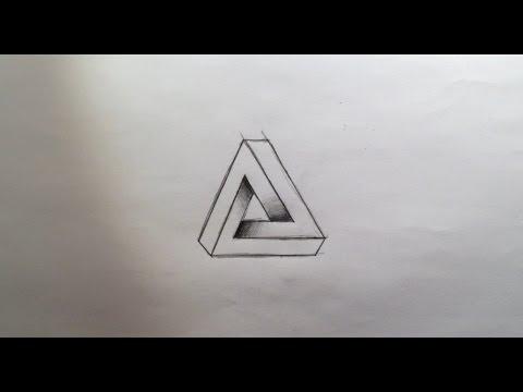 Wie zeichnet man das unmögliche Dreieck [Bleistift]