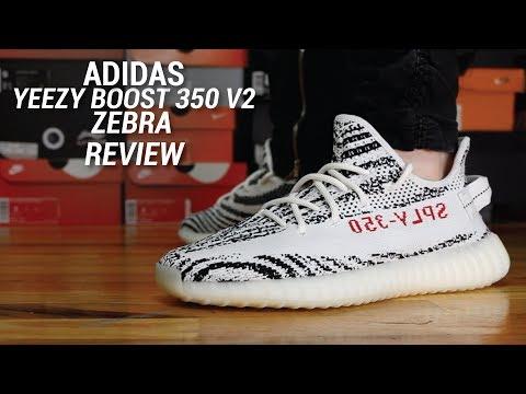 ff557f59b Adidas Yeezy 350 V2 Zebra Review - YT