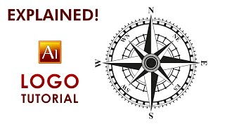 Create a Logo - Compass Rose - Illustrator Tutorial