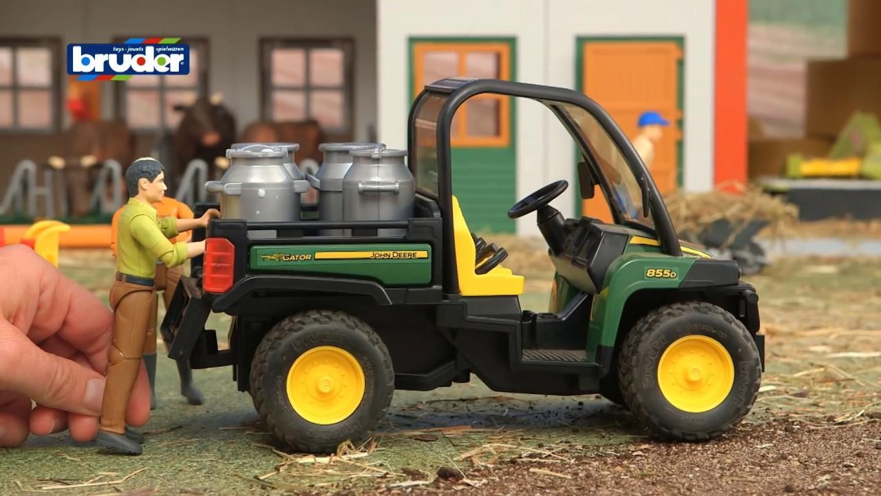 john deere gator 855d -- 02490 -- bruder spielwaren - youtube