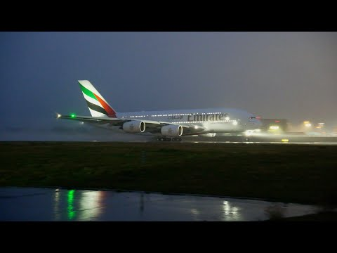 Emirates receives first A380 with Premium Economy | Ferry Flight | Emirates Airline