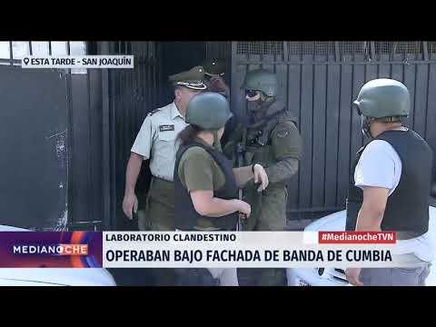 San Joaquín: Desbaratan laboratorio clandestino bajo fachada de banda de cumbia