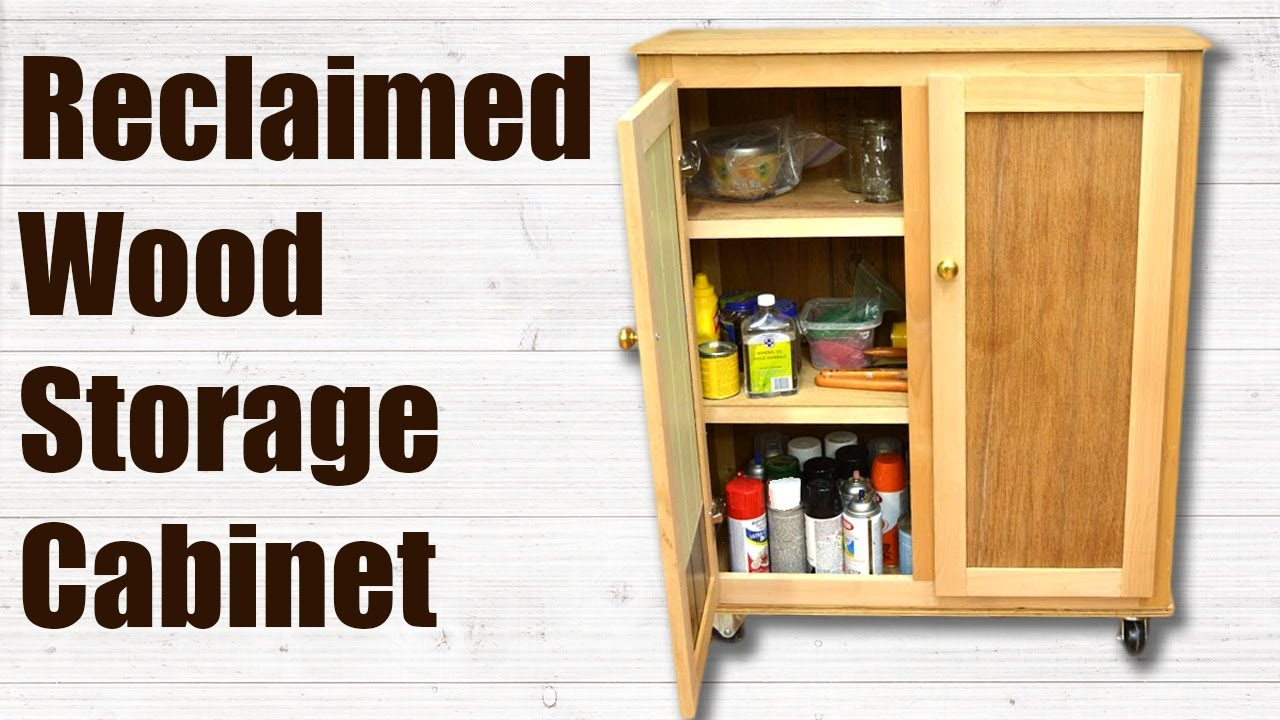 Reclaimed Wood Storage Cabinet Woodworking Project Youtube