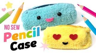 Kolay DİY HAYIR-DİKİŞ Tüylü Kalem kutusu ya da makyaj Çantası! Yapmak Emoji Okul Malzemeleri DİY!